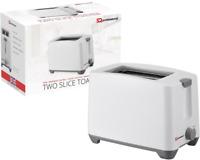 White 2 Two Slice Slot Toaster Quick Toast Reheat Cancel Function Plastic 750W