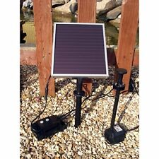 Solar Fountain Koi Pond Pump 79 GPH, with LED Lights for Dynamic Look at Night