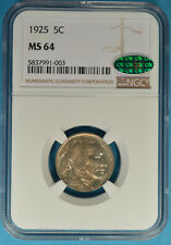1925 Buffalo Nickel NGC MS64- Very Sharp, CAC Endorsed Example