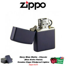 Zippo Navy Blue Matte Lighter, Classic, USA Genuine Windproof #239