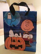 Snoopy / Peanuts - Geschenk Tüte gift bag / Tasche / Beutel Halloween blau / Neu