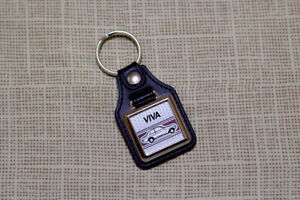 Vauxhall Viva HC Keyring - Leatherette & Chrome Keytag