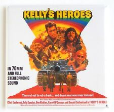 Kelly's Heroes Fridge Magnet (3 x 3 inches) movie poster