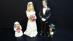 dolls house accessories resin bride/groom/page boy/brides maid  1.12th