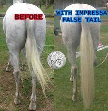 """OZ Horse False Tail 80CM 32"""" Nature White Cream False Horse Tail EXTENDED"""