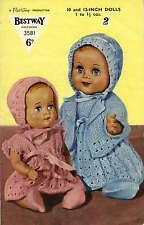 Vintage reto photo copy Knitting Pattern  Bestway No 3581 dolls clothes patterns