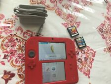 Nintendo 2DS Console - Red - Stylus, Charger, Case, and 2 games