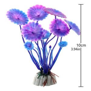 1Pcs Artificial Fish Tank Grass Flower Ornament Underwater Aquarium Plant Decor