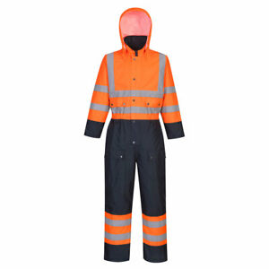 Portwest Winter Hi Viz Waterproof Contrast Coverall Lined/padded - S485 RIS 3279