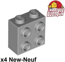Lego 4x Brique Brick Modified 1x2x1 x1//3 curved gris//light bluish gray 6091 NEUF