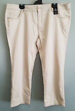 BNWT Womens Sz 16 Stone Bling Capri Denim Cotton Crop Pants RRP $79.95