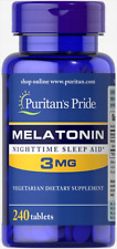Puritans Pride Mélatônine 3mg 240 comprimés