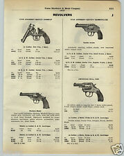 1930 PAPER AD Iver Johnson Revolver American Bull Dog .22 Caliber H&R Hunter Mod