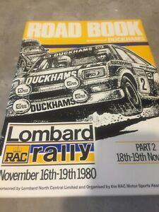 1980 LOMBARD RAC INTERNATIONAL RALLY OF GREAT BRITAIN ROAD BOOK  EX JIM PORTER