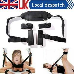 BDSM Bondage Set Restraint Under Bed Kit Handcuffs Ankle Straps Toy Adult Couple