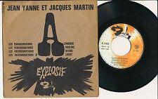 """JEAN YANNE JACQUES MARTIN 45 TOURS EP 7"""" FRANCE EXPLOSIF"""