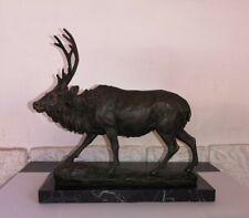 Bronze animalier cerf signé MILO