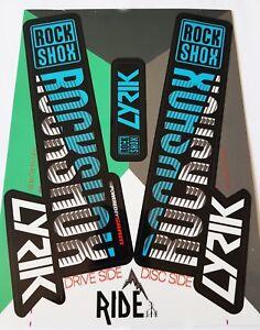 RockShox Lyrik 2018 Style Sticker Decal Sets- Enduro, DH, Blue/White