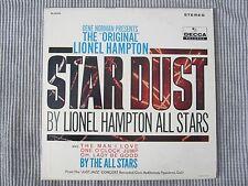 """LIONEL HAMPTON ~ THE """"ORIGINAL"""" STAR DUST  VINYL RECORD LP / 1961-63 DECCA"""