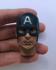 "1/6 Scale Captain America Head Sculpt with Helmet for 12""  Figure"