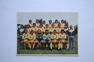 Ungeklebtes Mannschaftsbild, Bergmann-Serie 1976/77 von Eintracht Frankfurt, top