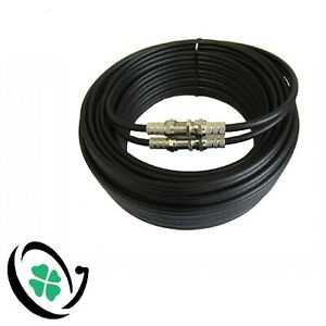 BLACK OR WHITE TWIN SHOTGUN CABLE (HD Satellite &  Aerial) + 4 F-CONNECTORS