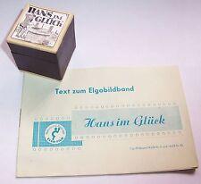 Alter ELGO Film Rollfilm Diafilm Hans im Glück mit Textheft !