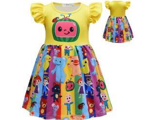 Girls Princess Dress CocoMelon Surprise Doll Dress Kid Gift Birthday Party Dress