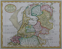 Niederlande - Baldwyn 1794 - A new & accurate map of the Seven Untited Provinces