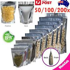 Aluminum Foil Mylar Food Packaging Zip Lock Stand Up Pouches Bags Clear / Silver