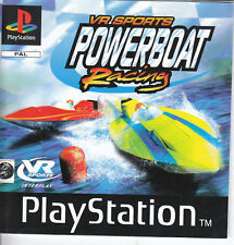 VR Sports Powerboat racing Sony ps1 juego play station one Game pal alemán 1998