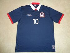 Men's Produit Original France #10 Blue Gallic Rooster Soccer Shirt - Size Xxl