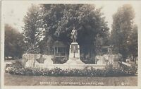 Indiana In Real Photo RPPC Postcard 1915 ELKHART Beardsley Monument Park
