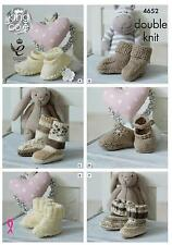 King Cole DK Knitting Pattern 4652 Baby Socks Shoes & Bootees
