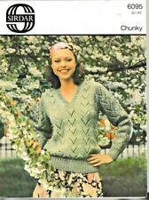 "Vintage Sirdar Knitting PATTERN Ladies  Sweater 32-38'"" dk Wool"