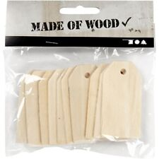 10 Holz-Anhänger Wooden MANILLA TAGS Geschenk-Anhänger Schilder ETIKETTEN 564841