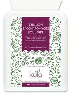 Saccharomyces Boulardii 5 Billion - Live Cultures Yeast Probiotic - 30 Capsules