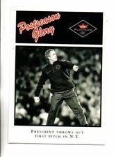 2001 FLEER PLATINUM PRESIDENT GEORGE W. BUSH POSTSEASON GLORY