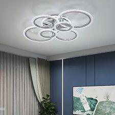 Dimmable Modern Led Ceiling Light Chandelier Home Living Room Lamp Fixture Rings