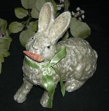 "RABBIT - CANDY CONTAINER - EASTER!! - PAPIER MACHE' - WITH SPARKLES!! - 8"" TALL"