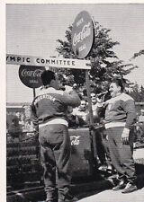 COCA - COLA WERBUNG * KÜHLTRUHE * HELSINKI * orig. Sammelbild * 1952