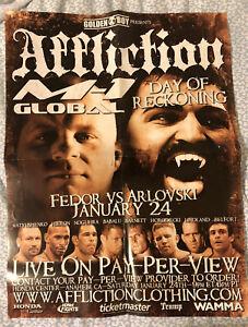 Vintage Fedor Emelianenko vs. Andrei Arlovski WAMMA Affliction M-1 Fight Poster
