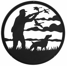 SWEN Products GOOSE DUCK HUNTER Steel Scenic Art Wall Design