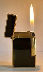 Vintage lighter Dupont Ligne 2 Black🖤Gold Very💥Good