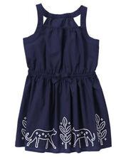 NWT Gymboree SUNNY SAFARI Size 10 Navy Embriodered Sundress Dress NEW