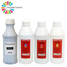 4 X 500ml Quality Printer Refill to Replace Cannon Epson Brother HP Ink Bottles