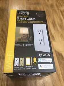 GE MyTouch Smart In-Wall Wi-Fi Smart Outlet No Hub Needed 40795-S1