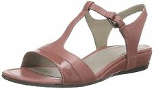ECCO women TOUCH 25 S SANDALS Shoe Ankle T Strap Leather PINK EU 41, USA 10-10.5