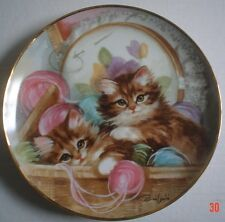 Franklin Mint Collectors Plate SEW SWEET Cat Kitten