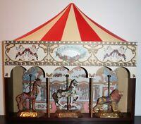Vintage Jack Hou 1990 Carousel Galloping Wood & Plastic Hanging Display Carnival